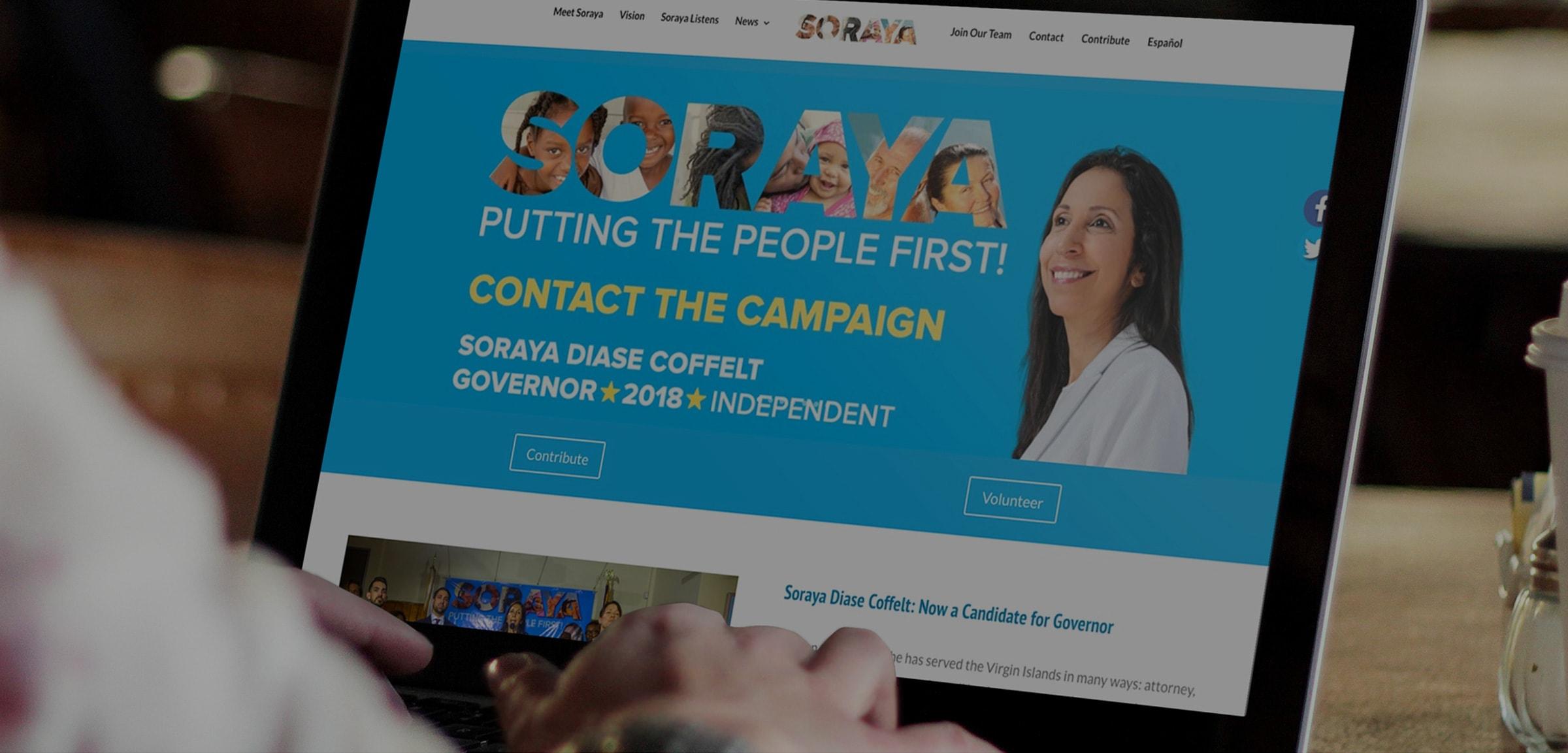 Soraya Portfolio Header